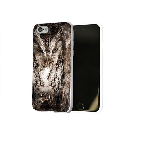 Чехол для Apple iPhone 8 силиконовый глянцевый  Фото 02, Сова
