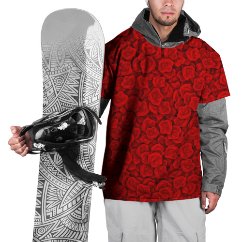 Накидка на куртку 3D  Фото 01, Красные розы