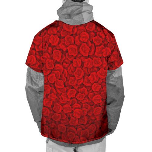 Накидка на куртку 3D  Фото 02, Красные розы