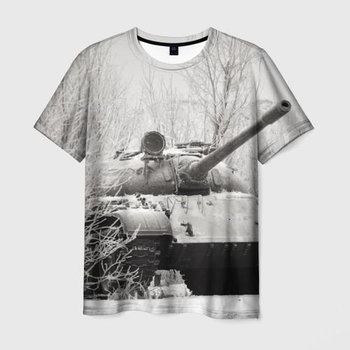Мужская футболка 3D Танк т74