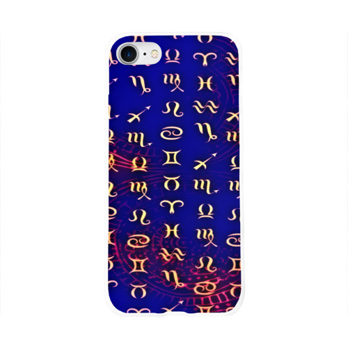 Чехол для Apple iPhone 8 силиконовый глянцевый  Фото 01, zodiac