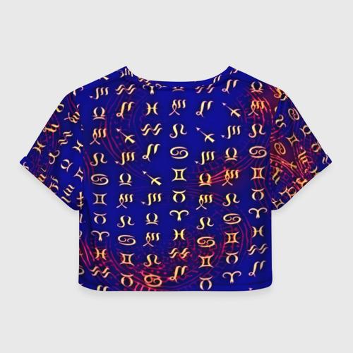 Женская футболка 3D укороченная  Фото 02, zodiac