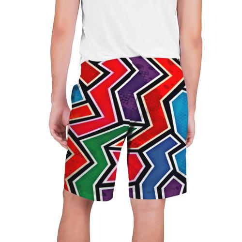 Мужские шорты 3D  Фото 02, Изогнутые линии