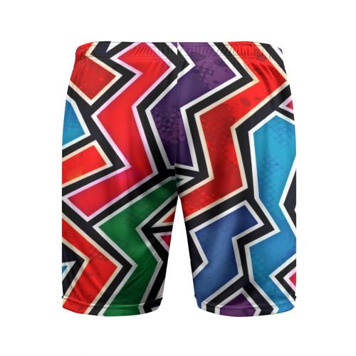 Мужские шорты 3D спортивные  Фото 02, Изогнутые линии