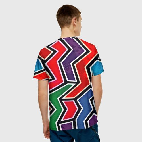 Мужская футболка 3D  Фото 02, Изогнутые линии