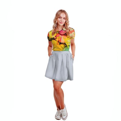 Женская рубашка поло 3D  Фото 04, Пасхальные яйца