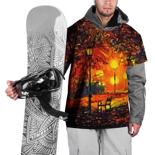Накидка на куртку 3D  Фото 01, Осенний парк