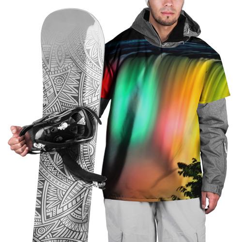 Накидка на куртку 3D  Фото 01, Цветной водопад