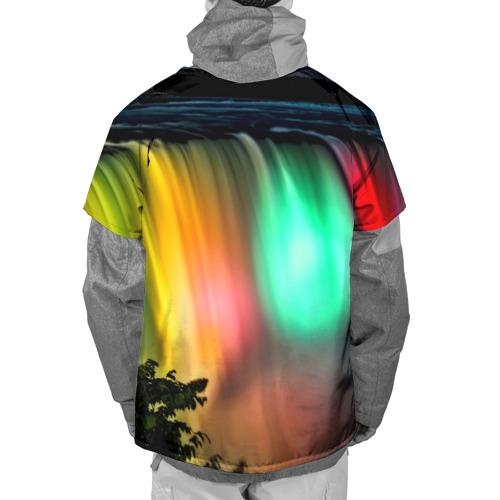 Накидка на куртку 3D  Фото 02, Цветной водопад