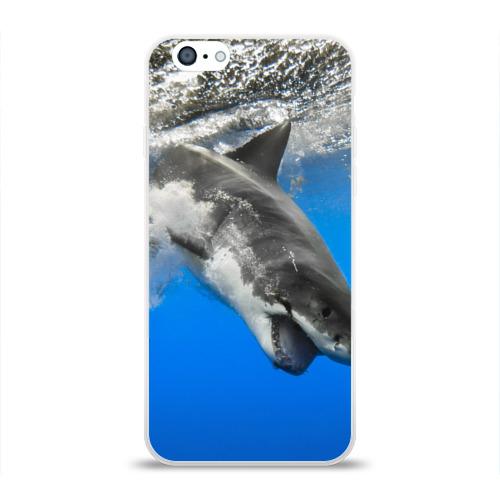 Чехол для Apple iPhone 6 силиконовый глянцевый  Фото 01, Акула