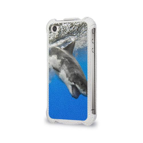 Чехол для Apple iPhone 4/4S flip  Фото 03, Акула