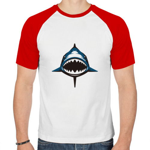 Мужская футболка реглан  Фото 01, Акула