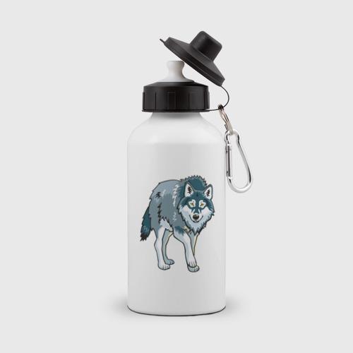 Бутылка спортивная  Фото 01, Серый волк