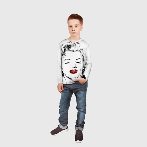 Детский лонгслив 3D  Фото 05, Мерлин Монро