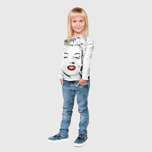 Детский лонгслив 3D  Фото 04, Мерлин Монро