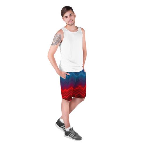 Мужские шорты 3D  Фото 03, Zigzag pattern