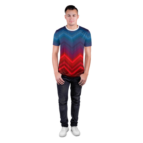 Мужская футболка 3D спортивная  Фото 04, Zigzag pattern