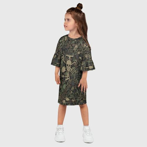 Детское платье 3D  Фото 03, Камуфляж садовода