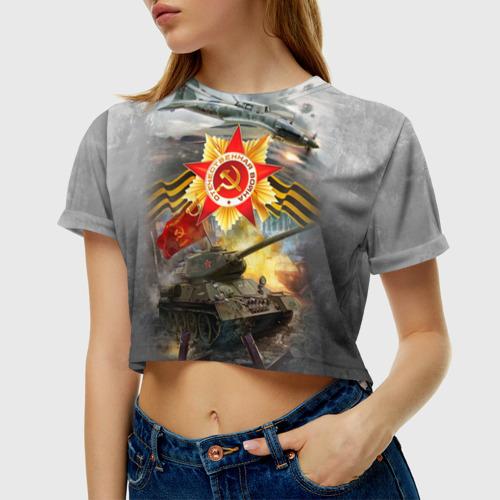 Женская футболка 3D укороченная  Фото 01, Отечественная война