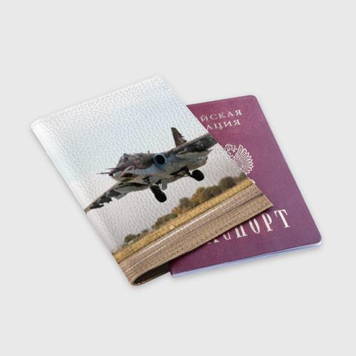Обложка для паспорта матовая кожа  Фото 03, Истребитель