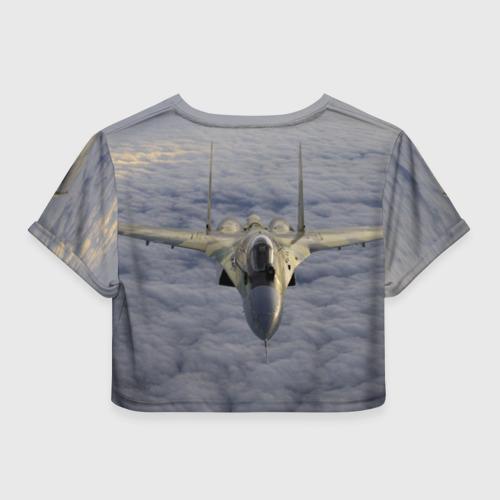 Женская футболка 3D укороченная  Фото 02, Сухой