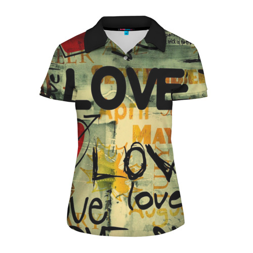 Женская рубашка поло 3D Love letter