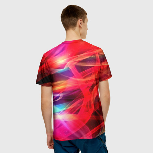 Мужская футболка 3D  Фото 02, Abstract glow