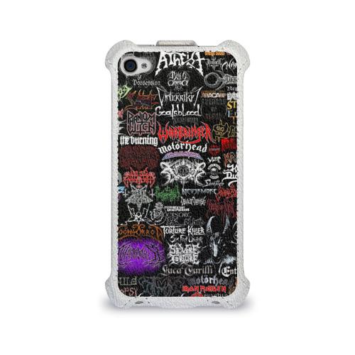Чехол для Apple iPhone 4/4S flip  Фото 01, Hard Rock