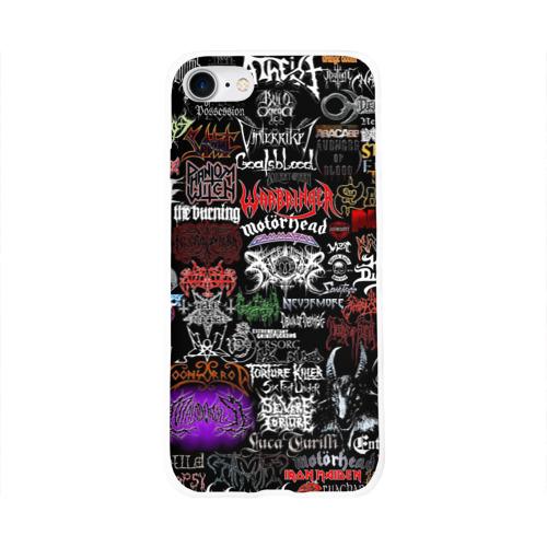 Чехол для Apple iPhone 8 силиконовый глянцевый  Фото 01, Hard Rock