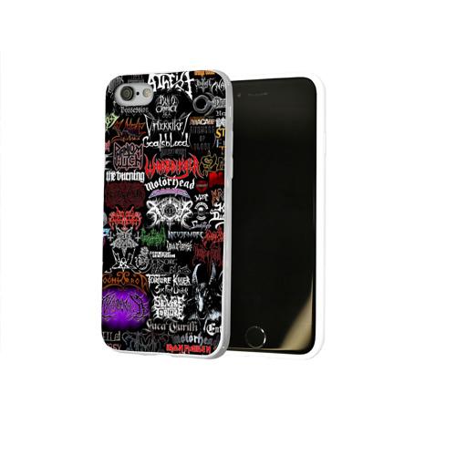 Чехол для Apple iPhone 8 силиконовый глянцевый  Фото 02, Hard Rock