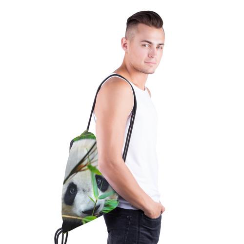 Рюкзак-мешок 3D  Фото 03, Панда в лесу