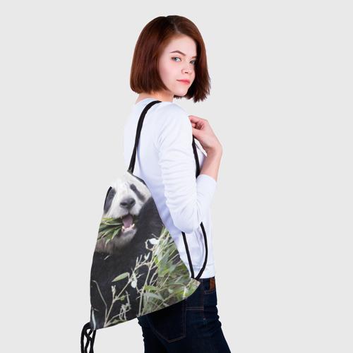 Рюкзак-мешок 3D  Фото 02, Панда кушает