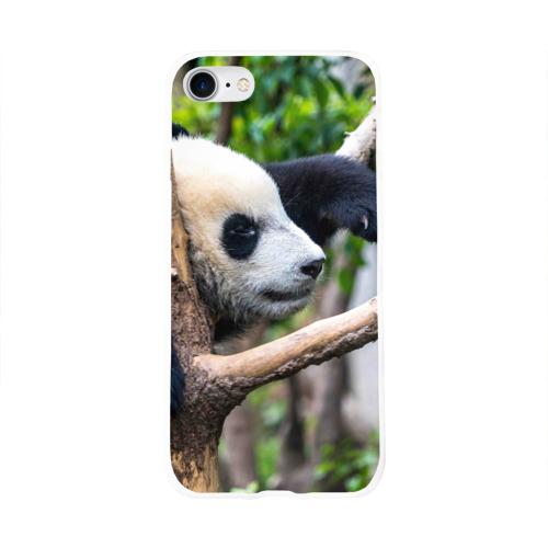Чехол для Apple iPhone 8 силиконовый глянцевый  Фото 01, Бамбуковый медведь