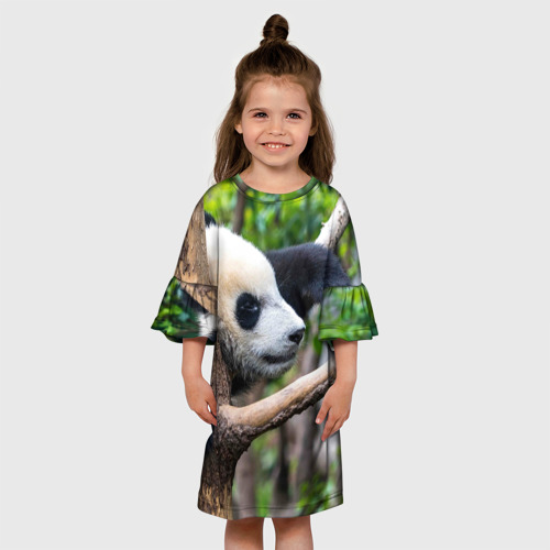 Детское платье 3D  Фото 01, Бамбуковый медведь