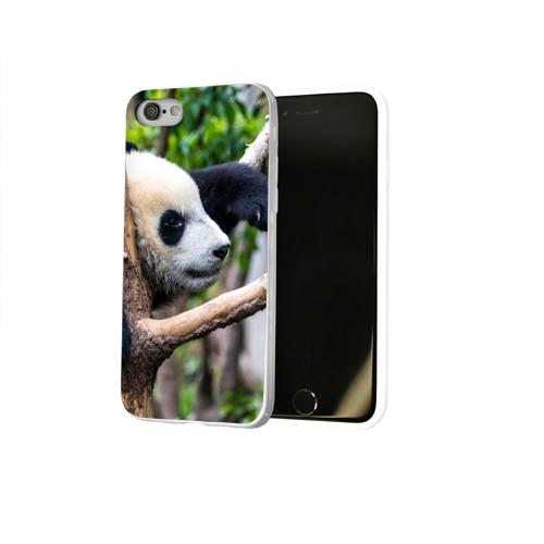 Чехол для Apple iPhone 8 силиконовый глянцевый  Фото 02, Бамбуковый медведь