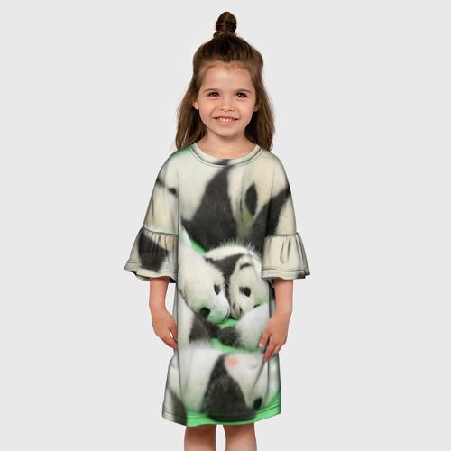 Детское платье 3D  Фото 01, Новорожденные панды