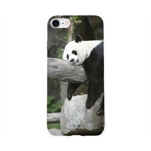 Чехол для Apple iPhone 8 силиконовый глянцевый  Фото 01, Большая уставшая панда