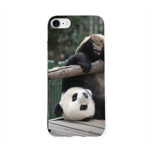 Чехол для Apple iPhone 8 силиконовый глянцевый  Фото 01, Паркур панда