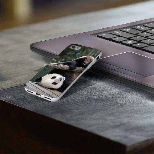 Чехол для Apple iPhone 8 силиконовый глянцевый  Фото 03, Паркур панда