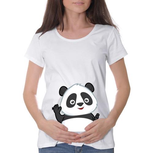Футболка для беременных хлопок  Фото 01, Привет, я панда