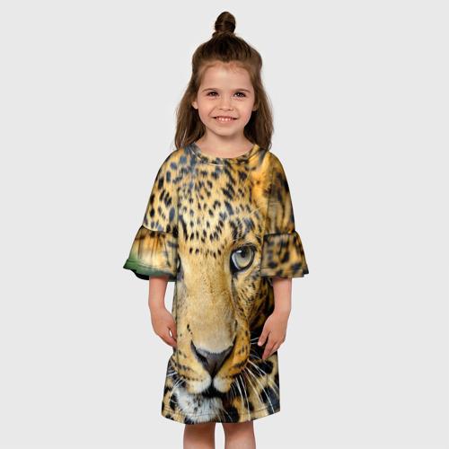 Детское платье 3D  Фото 01, Леопард