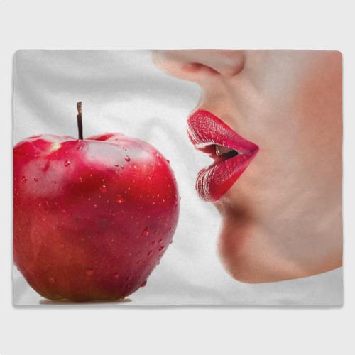 Плед 3D  Фото 03, Яблоко и губы