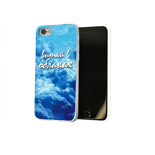 Чехол для Apple iPhone 8 силиконовый глянцевый  Фото 02, Витай в облаках