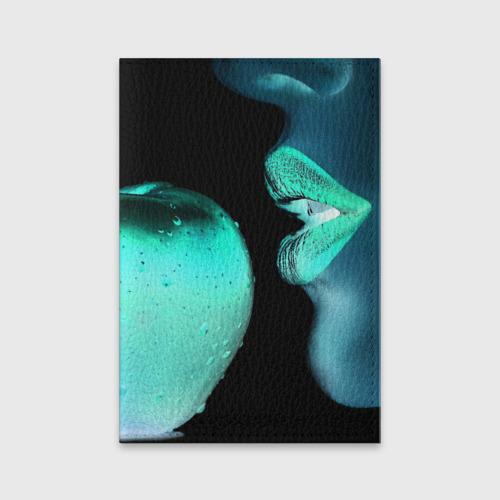Негатив яблоко и губы