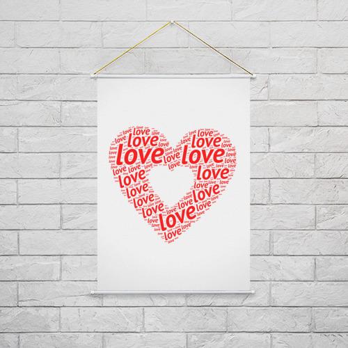 Тканевый плакат  Фото 02, Сердце Love