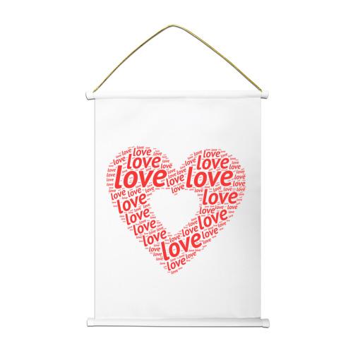 Тканевый плакат  Фото 01, Сердце Love