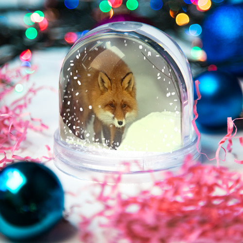 Водяной шар со снегом  Фото 03, Лиса