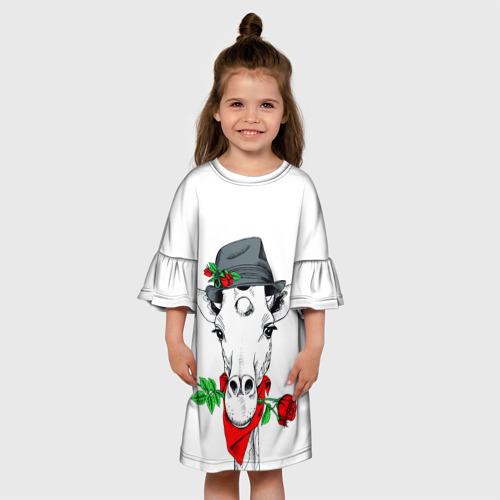 Детское платье 3D  Фото 01, Жираф джентльмен