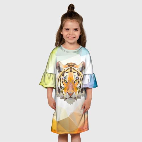 Детское платье 3D  Фото 01, Тигр