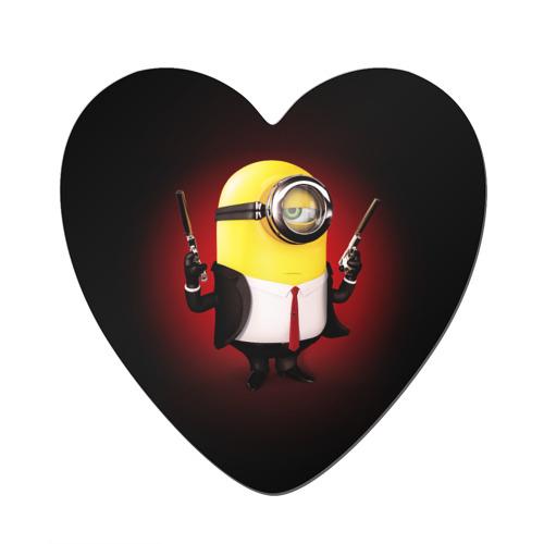 Магнит виниловый сердце  Фото 01, Minion Hitman